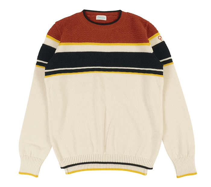 秋のゴルフの服装にごるらんのニットセーター メンズ
